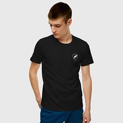 Футболка хлопковая мужская Шеврон ОДОН цвета черный — фото 2
