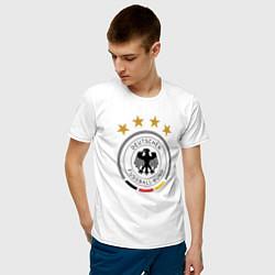 Футболка хлопковая мужская Deutscher Fussball-Bund цвета белый — фото 2