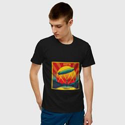 Футболка хлопковая мужская Led Zeppelin цвета черный — фото 2