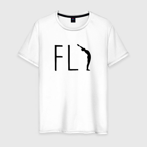 Мужская футболка Yoga Fly / Белый – фото 1