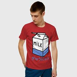 Футболка хлопковая мужская White Milk цвета красный — фото 2