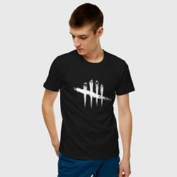 Футболка хлопковая мужская Dead by Daylight White Logo цвета черный — фото 2