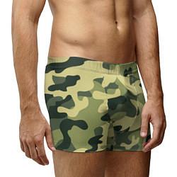 Трусы-боксеры мужские Камуфляж: зеленый/хаки цвета 3D — фото 2