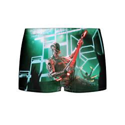 Трусы-боксеры мужские Iron Maiden: Rocker Robot цвета 3D-принт — фото 1