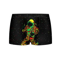 Трусы-боксеры мужские Космонавт с кальяном цвета 3D-принт — фото 1