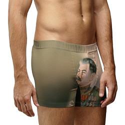 Трусы-боксеры мужские Иосиф Сталин цвета 3D — фото 2