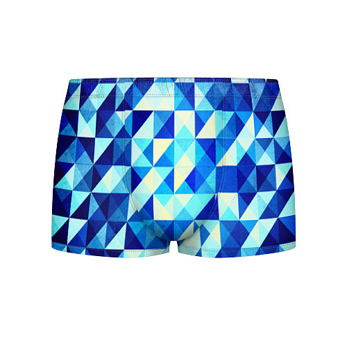 Мужские трусы Синяя геометрия / 3D – фото 1