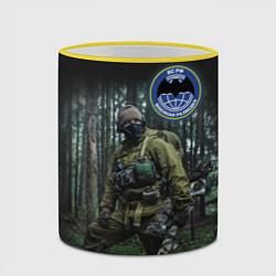 Кружка 3D Военная разведка цвета 3D-желтый кант — фото 2