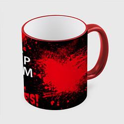 Кружка 3D Keep Calm & Kill Zombies цвета 3D-красный кант — фото 1