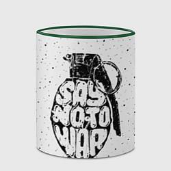 Кружка 3D Say no to War цвета 3D-зеленый кант — фото 2