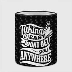 Кружка 3D Taking It Easy цвета 3D-черный кант — фото 2