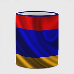 Кружка 3D Флаг Армения цвета 3D-синий кант — фото 2