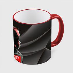 Кружка 3D Виктор Цой цвета 3D-красный кант — фото 1