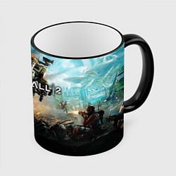Кружка 3D Titanfall Battle цвета 3D-черный кант — фото 1