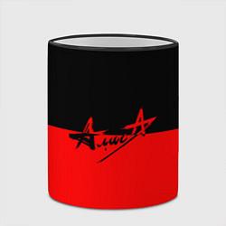 Кружка 3D АлисА: Черный & Красный цвета 3D-черный кант — фото 2