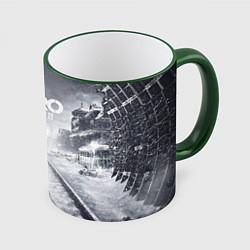Кружка 3D Metro Exodus цвета 3D-зеленый кант — фото 1