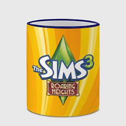 Кружка 3D The Sims: Roaring Heights цвета 3D-синий кант — фото 2