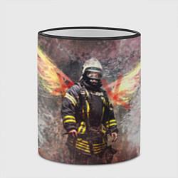 Кружка 3D Пожарный ангел цвета 3D-черный кант — фото 2