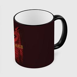 Кружка 3D Twin Peaks: Red Owl цвета 3D-черный кант — фото 1