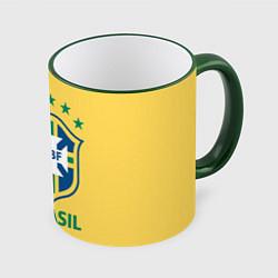 Кружка 3D Brazil Team цвета 3D-зеленый кант — фото 1