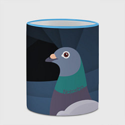 Кружка 3D Голубь Наташа цвета 3D-небесно-голубой кант — фото 2