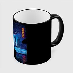 Кружка 3D Blade Runner: Dark Night цвета 3D-черный кант — фото 1