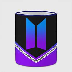 Кружка 3D BTS: Neon Symbol цвета 3D-синий кант — фото 2