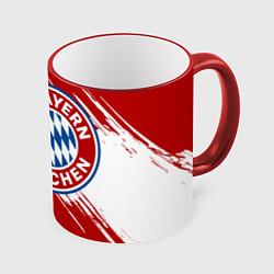 Кружка 3D ФК Бавария цвета 3D-красный кант — фото 1