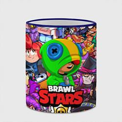 Кружка 3D BRAWL STARS LEON цвета 3D-синий кант — фото 2