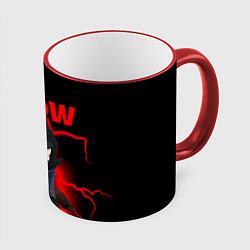 Кружка 3D Brawl Stars CROW цвета 3D-красный кант — фото 1