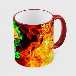 Кружка 3D BRAWL STARS LEON цвета 3D-красный кант — фото 1