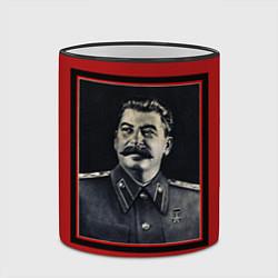 Кружка 3D Сталин цвета 3D-черный кант — фото 2