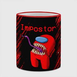 Кружка 3D AMONG US - MONSTER цвета 3D-красный кант — фото 2