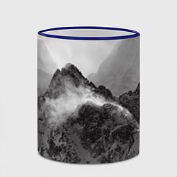 Кружка 3D Горы цвета 3D-синий кант — фото 2
