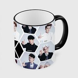 Кружка 3D EXO Boys цвета 3D-черный кант — фото 1