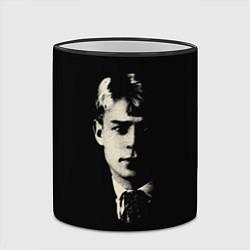 Кружка 3D Есенин Ч/Б цвета 3D-черный кант — фото 2