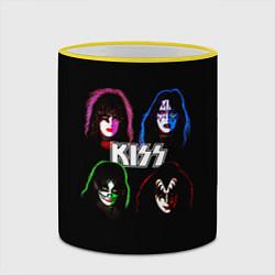 Кружка 3D KISS: Acid Colours цвета 3D-желтый кант — фото 2