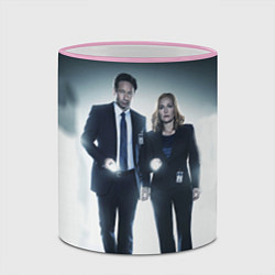 Кружка 3D Малдер и Скалли цвета 3D-розовый кант — фото 2