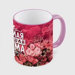 Кружка 3D Лучшая мама цвета 3D-розовый кант — фото 1