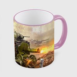 Кружка 3D День победы цвета 3D-розовый кант — фото 1