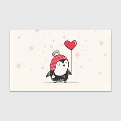 Бумага для упаковки Влюбленный пингвин цвета 3D — фото 1