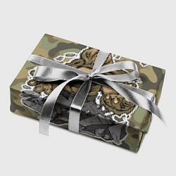 Бумага для упаковки Армия России: ярость медведя цвета 3D — фото 2