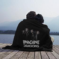 Плед флисовый Imagine Dragons: Boy Band цвета 3D-принт — фото 2