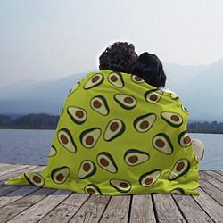 Плед флисовый Стиль авокадо цвета 3D-принт — фото 2