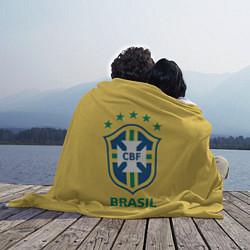 Плед флисовый Brazil Team цвета 3D-принт — фото 2