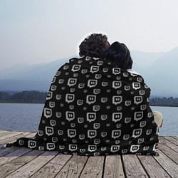 Плед флисовый Twitch: Black Pattern цвета 3D-принт — фото 2