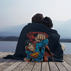Плед флисовый Superman цвета 3D — фото 2