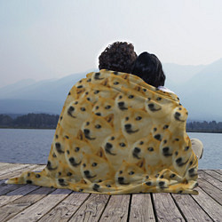 Плед флисовый Doge цвета 3D — фото 2