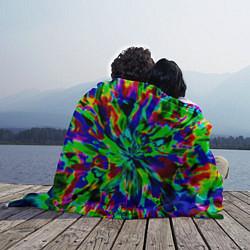 Плед флисовый Оксид красок цвета 3D — фото 2