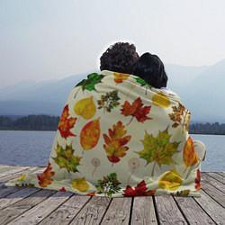 Плед флисовый Осень цвета 3D-принт — фото 2